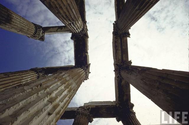 Temple of Zeus; Athens, by Gjon Mili 1962