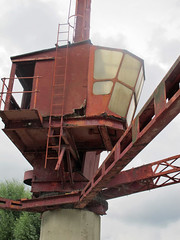Last remaining example of a dockhead crane.