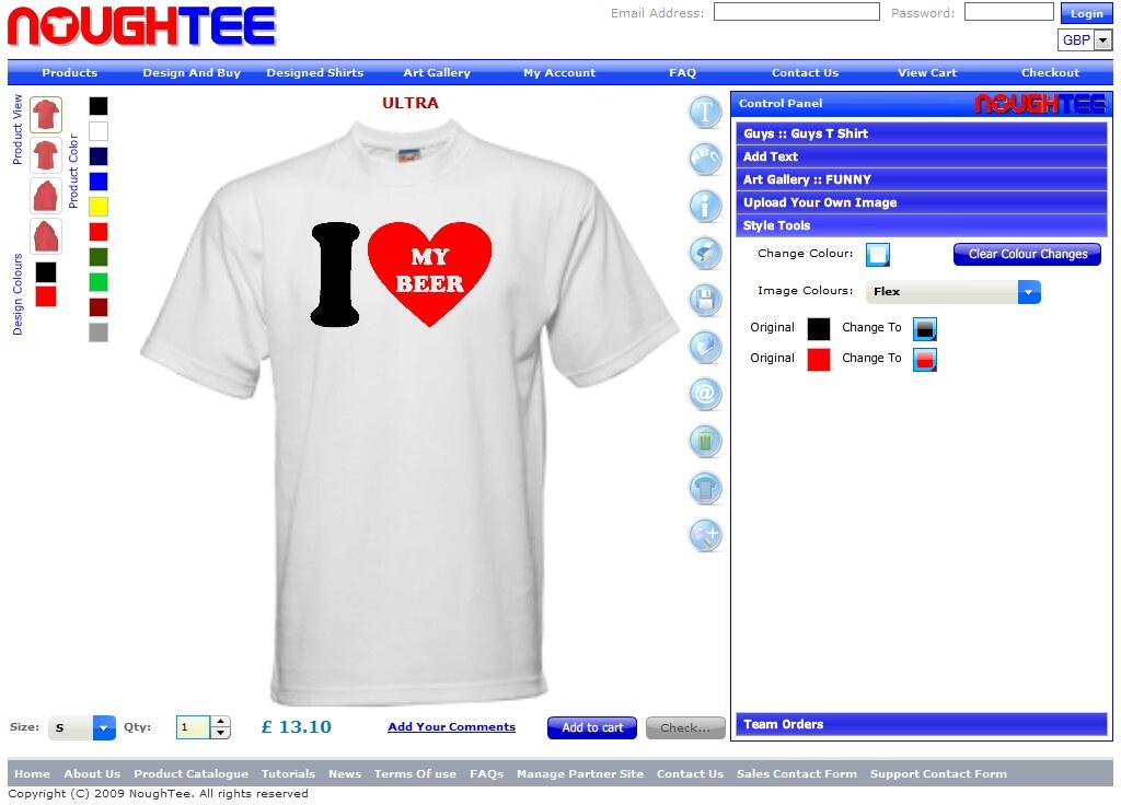 T-Shirt Maker and Custom Application Tool, Creator or T-Sh