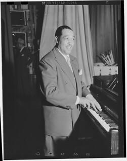 [Portrait of Duke Ellington, Howard Theater(?), Washington, D.C., ca. June 1946] (LOC)