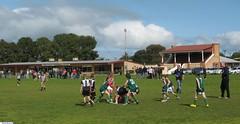 The Mallala Junior Football Team playing on the Mallala Oval.