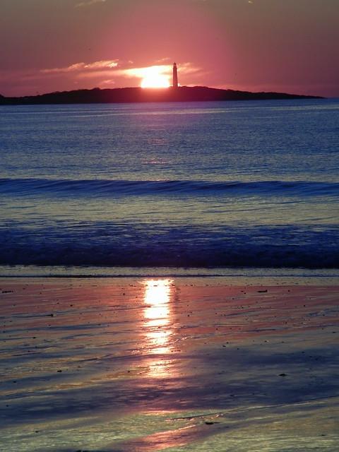 Sunrise At Thacher Island Twin Lighthouses Cape Ann