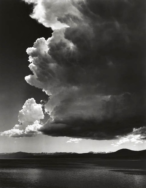 Thundercloud, Lake Tahoe, by Ansel Adams 1936