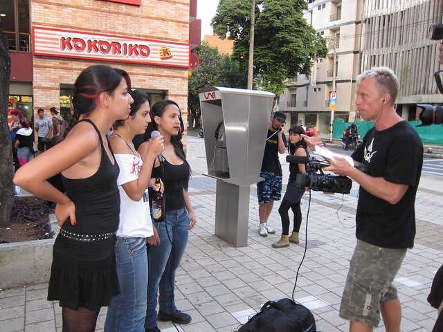 Robert interviews an all-female punk group from Medellin.