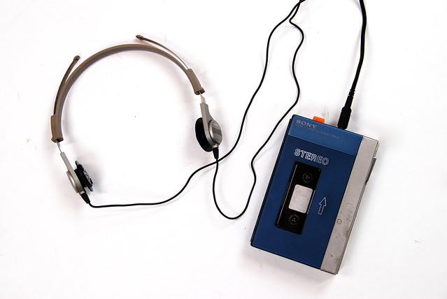 Sony Walkman TPS-L2 med headset