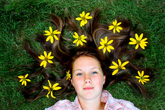 [フリー画像素材] 人物, 女性, 人物 - 花・植物, アメリカ人 ID:201301282200