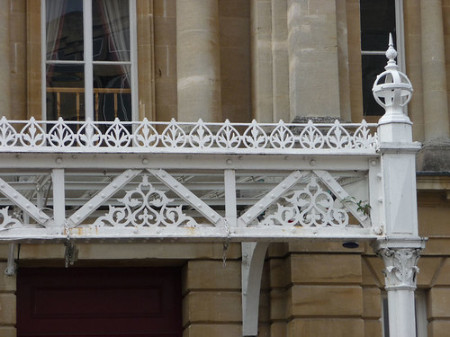 Close up of Iron work at Green Park, Bath