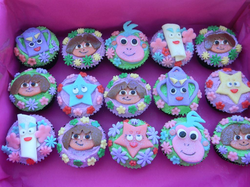 Dora the explorer cupcakes a photo on Flickriver