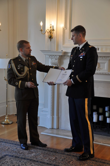 Gaven Meadows Awarded the Estonian Border Guard Cross of Merit III Class