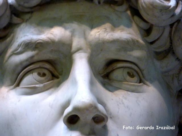 La mirada de David. Galleria dell´Academia. El David. Firenze Italia.