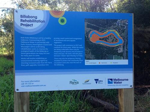 Bolin Bolin regeneration project sign, Bulleen