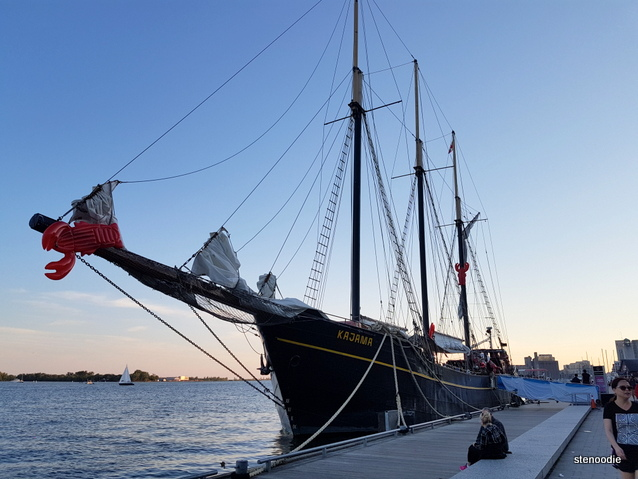 The Tall Ship Kajama sunset