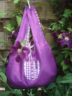 Purple reversible bag