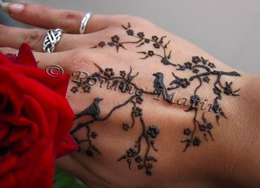 Henna Tattoo Bird Birds & Blossom...