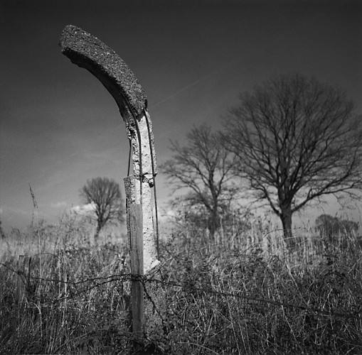 Fence Post, Neuengamme, by Michael Kenna 2000