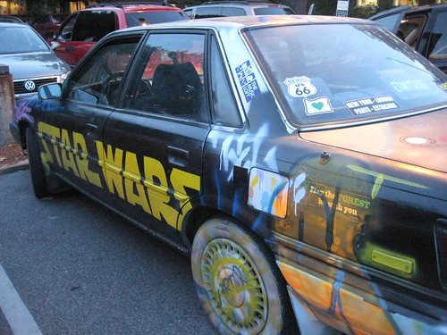 Star Wars car in Carrboro