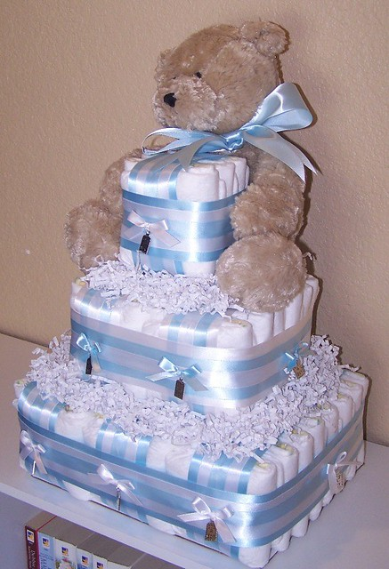 diaper cake for boy instructions