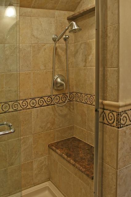 Bathroom renovation houston - Shower Tile W Seat Flickr Photo Sharing