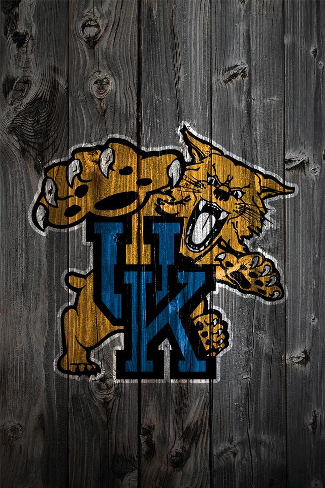 Kentucky Wildcats Alternate Logo Wood IPhone 4 Background