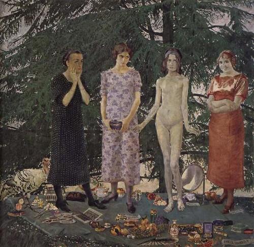 Felice Casorati, Le signorine, 1912