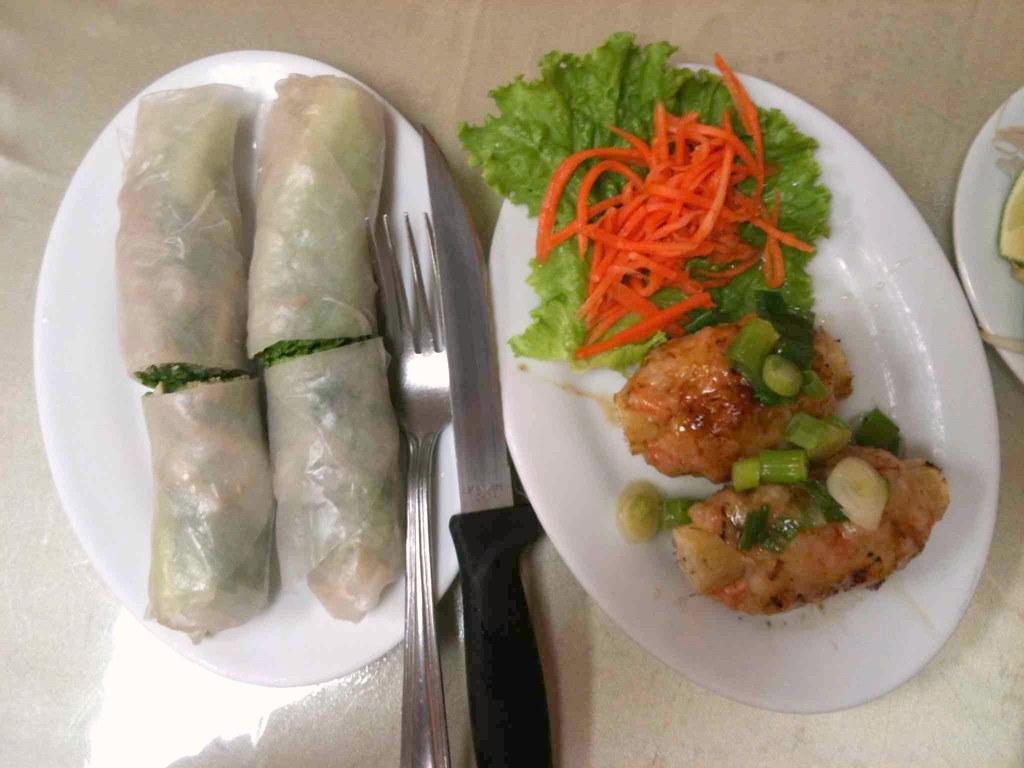 Pork Ear Salad Roll & Grilled Sugarcane Shrimp