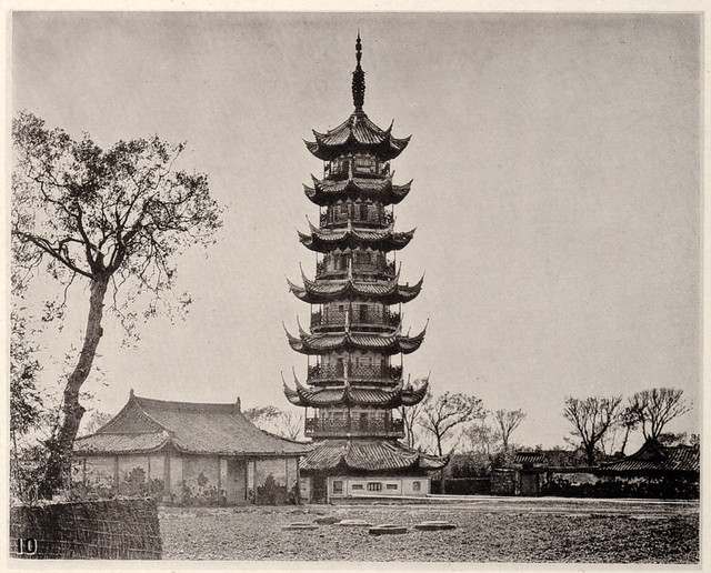 Lung-hwa-ta, or Pagoda of the Dragon's Glory, in Shanghai, by John Thomson c.1874
