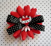 Tattoo Love Heart Red Flower Barrette www.PunkUpBettie.etsy.com