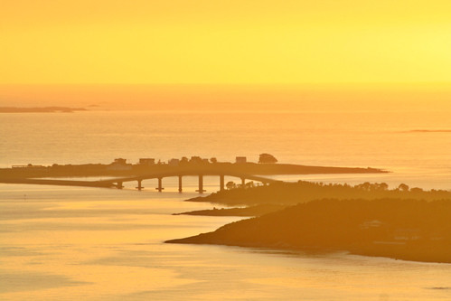bridge sunset sea summer panorama norway golden fjord viewpoint ålesund fjellstua aalesund giske norwegiansea aksla larigan valderøyfjord phamilton giskebro gettyimagesnorwayq1