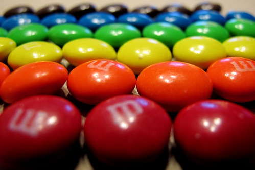 M&Ms Sorted by Color