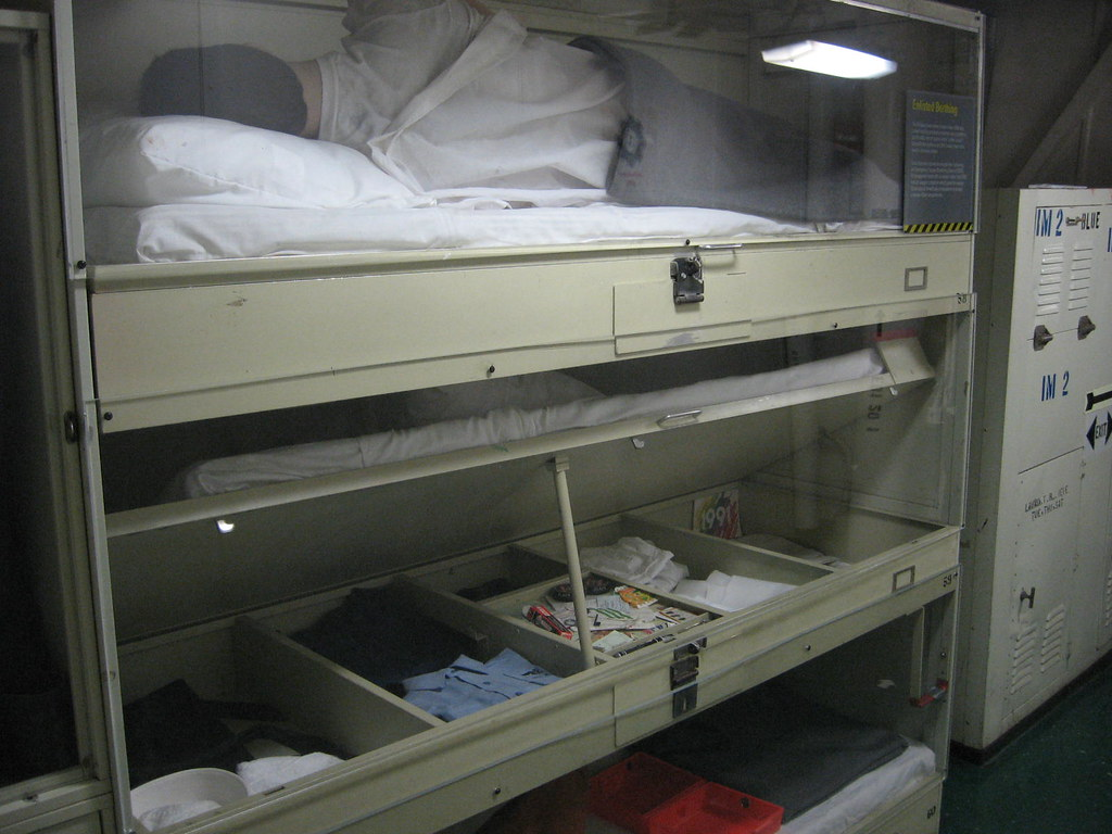 Spectacular These bunks are still used on ships How could they ever improve them Each