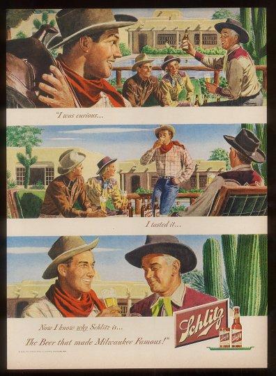 Schlitz-1948-Cowboy