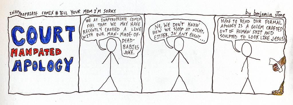 Inappropriate Comix Apology