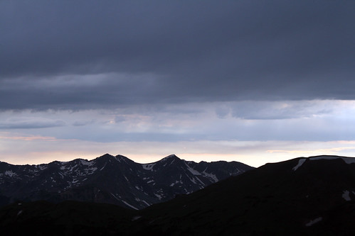 Mountains and dark clouds