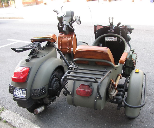 Usa Military Vespa With Side Car Flickr Photo Sharing