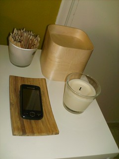 Soap holder, candles, and IKEA pencils