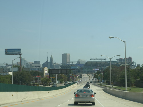 Baltimore skyline from Russell Street