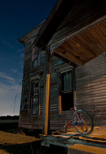 abandoned night farmhouse texas tricycle rockwall klutts