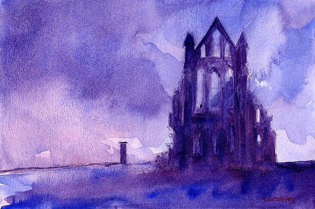 Whitby Abbey - Watercolour Painting by Steve Greaves