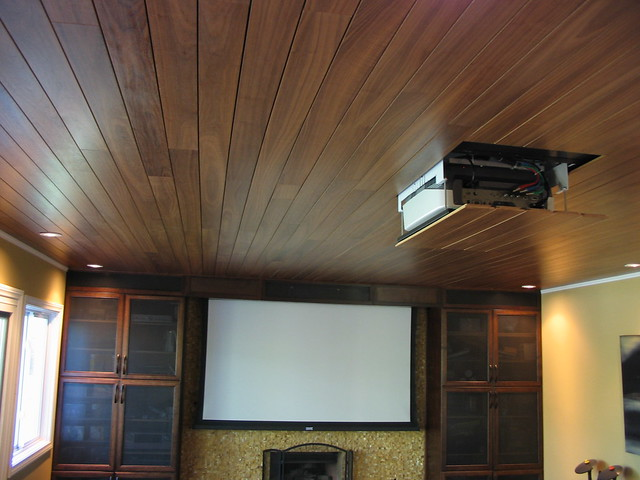 Acoustical wood ceiling « systems