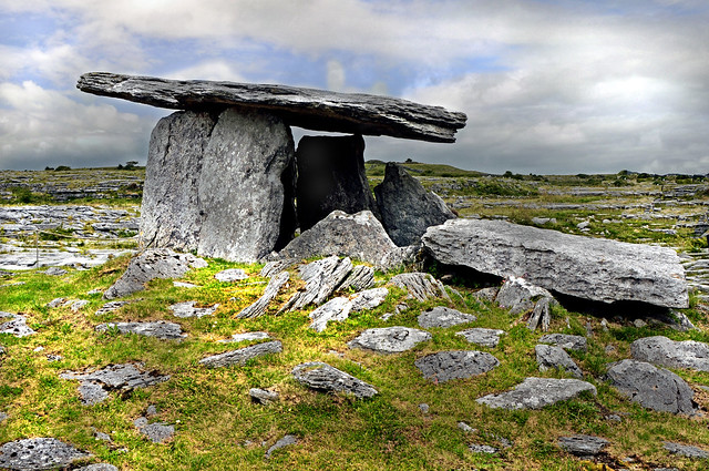 5,000 year old Poulnabrone Dolmen, The Burren, County Clare...........Explore #420