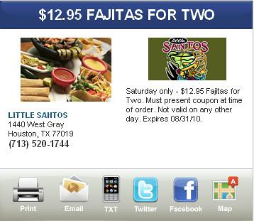 Houston Fazitas Special Offer Coupons