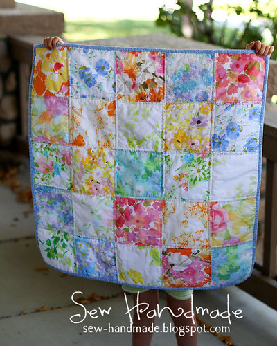 Baby Quilt - All Vintage Fabrics (except the binding)