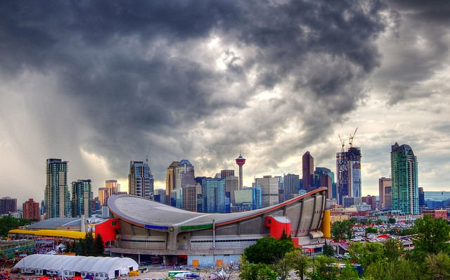 Skyline Over the Calgary Stampede