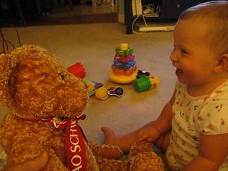 teddy bear laughs