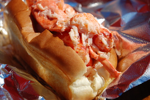 lobster roll at Sprague's in Wiscasset (the Red's Eats line was too long)