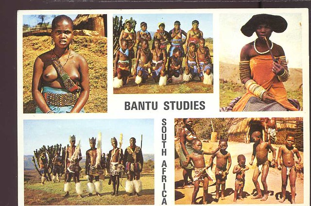 South Africa Bantu from various tribes semi nude natives af1071
