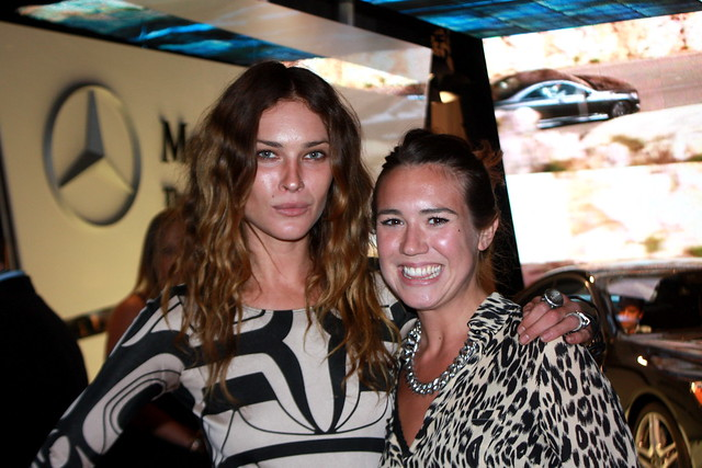 erin wasson and me in the tents