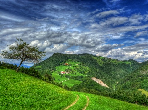 trees sky cloud mountains tree green clouds hills barbara slovenia slovenija hdr ozbolt ožbolt osolnik