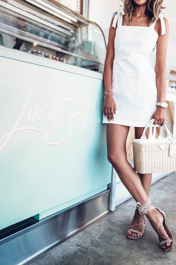 White outfits for summer 2017 street style outfits fashion trend accessories7