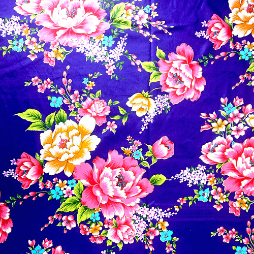 大花布料_富贵牡丹花 复古怀旧花卉 客家花布 台湾花布 精梳棉床品床单布料